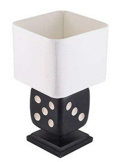 Warm Design Reçine Zar Masa Lambası Siyah